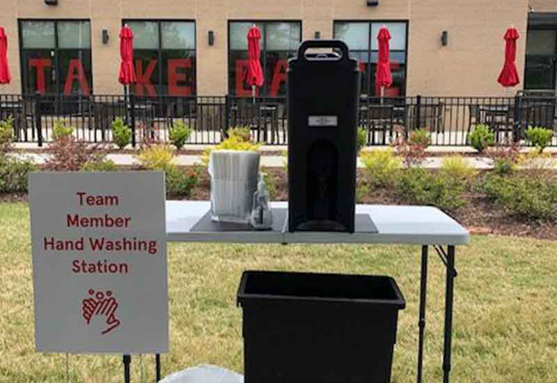 Chik-fil-A handwashing station